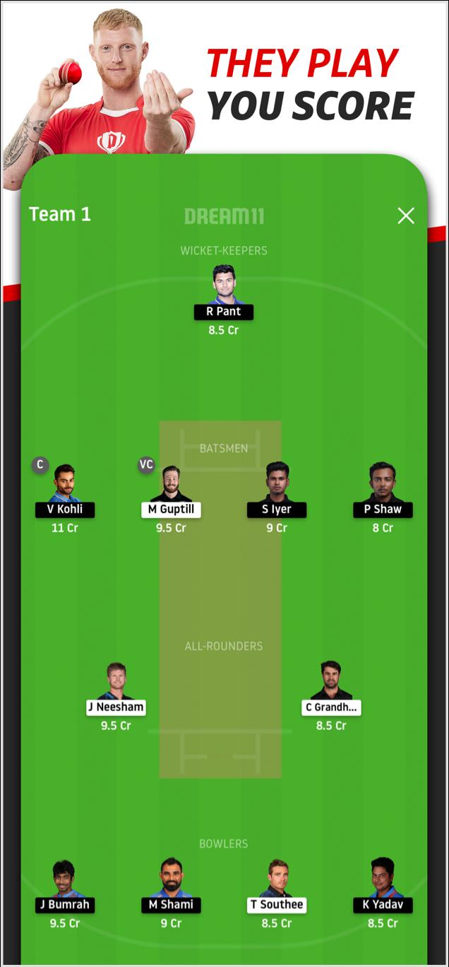 Fantasy Cricket App | Download Dream11 App & Win Crores